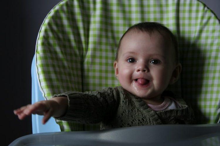 Bébé à 5 mois : un beau sourire